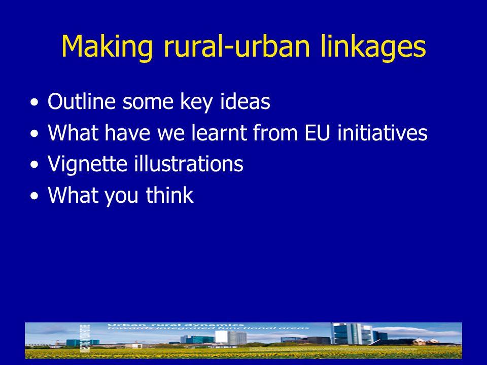 Making rural-urban linkages