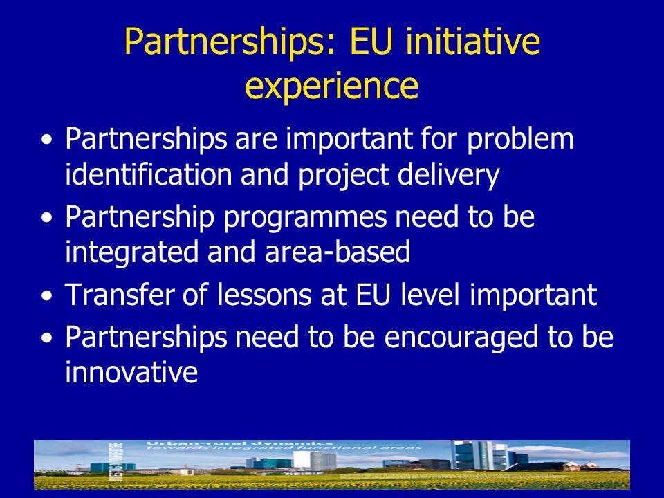 Partnerships: EU initiative experience