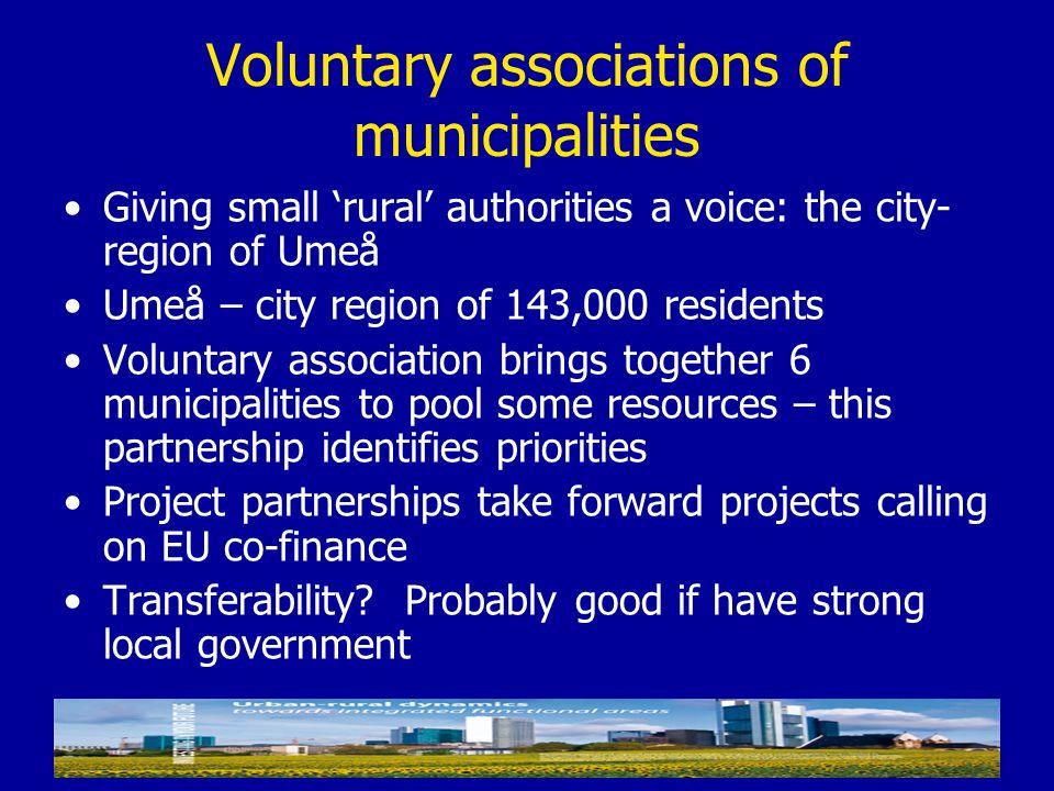 Voluntary associations of municipalities