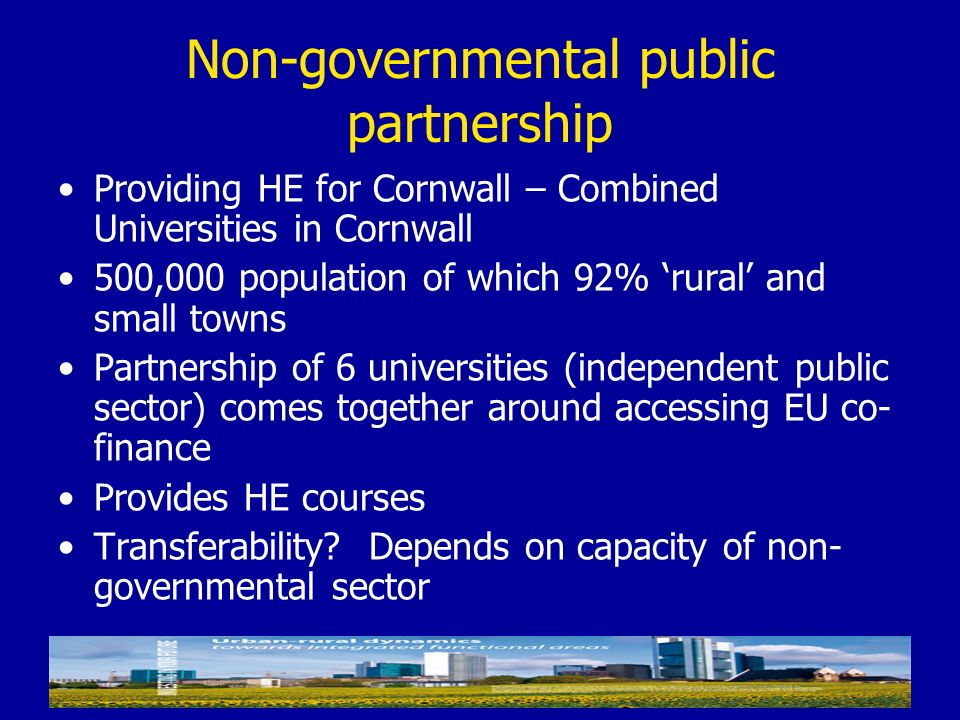 Non-governmental public partnership