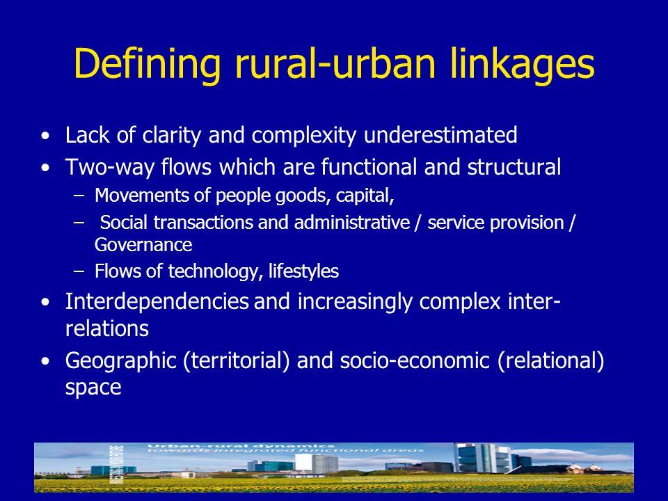 Defining rural-urban linkages