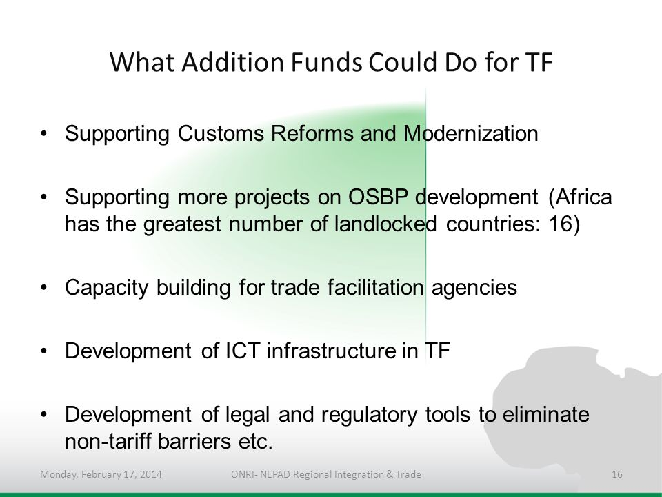 What Addition Funds Could Do for TF