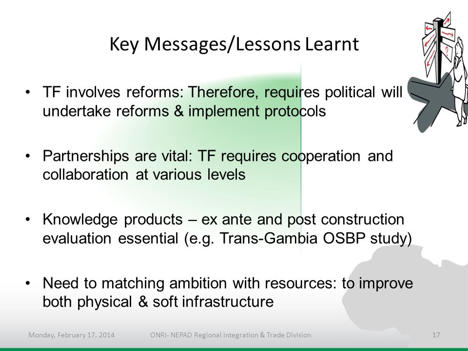Key Messages/Lessons Learnt