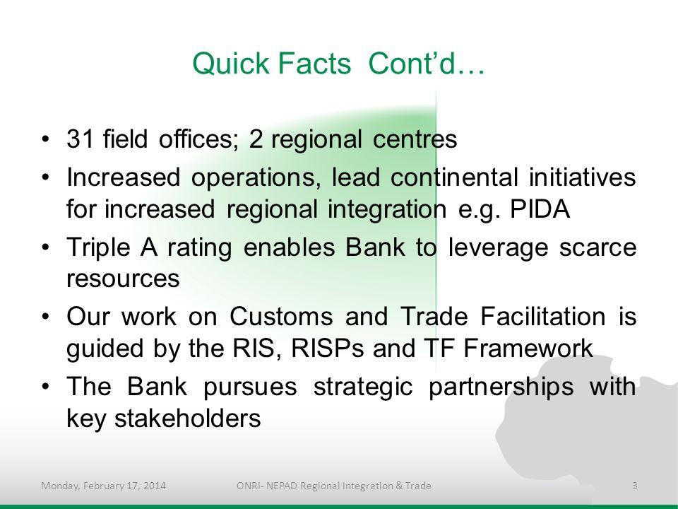 ONRI- NEPAD Regional Integration & Trade
