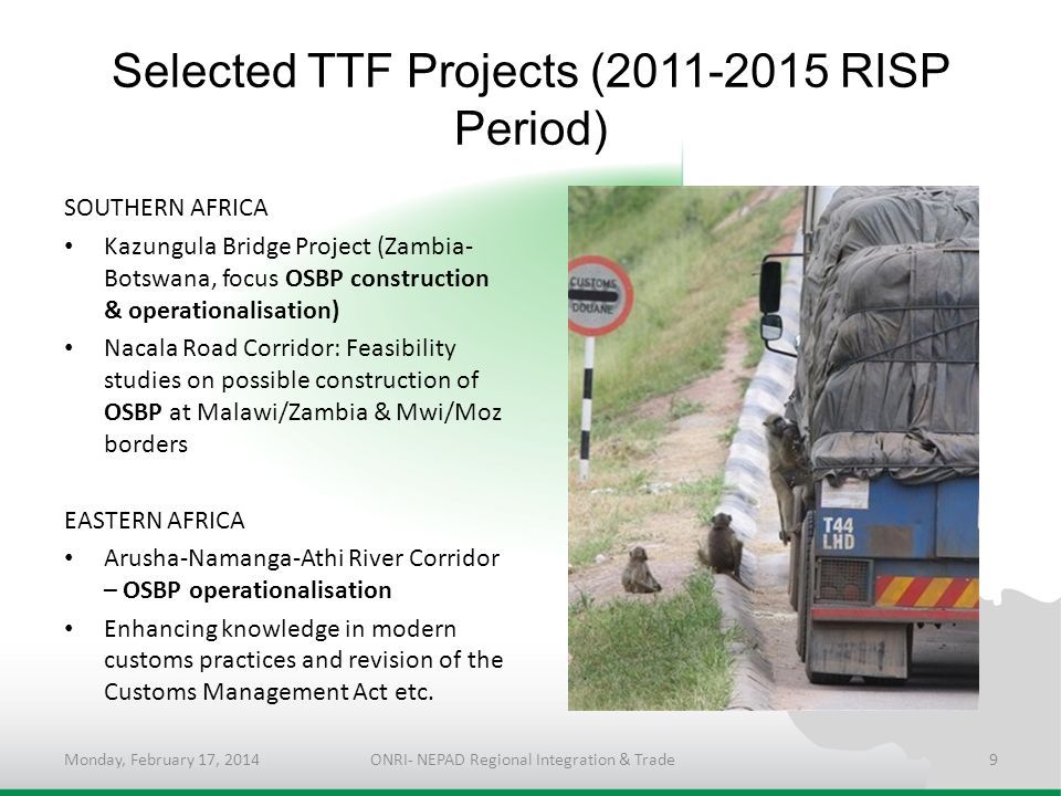 Selected TTF Projects (2011-2015 RISP Period)