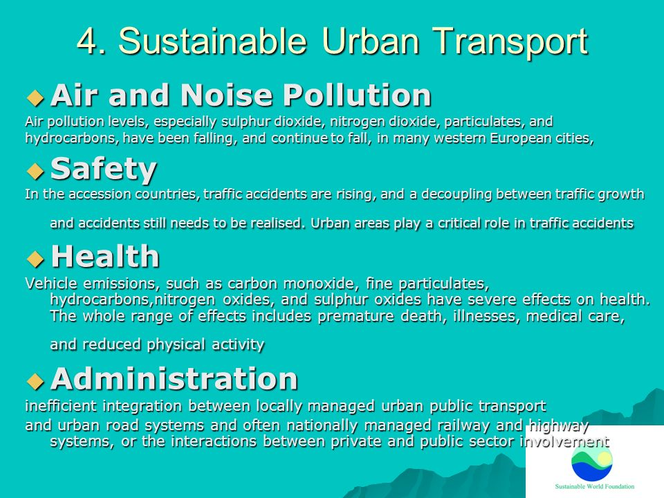 4. Sustainable Urban Transport