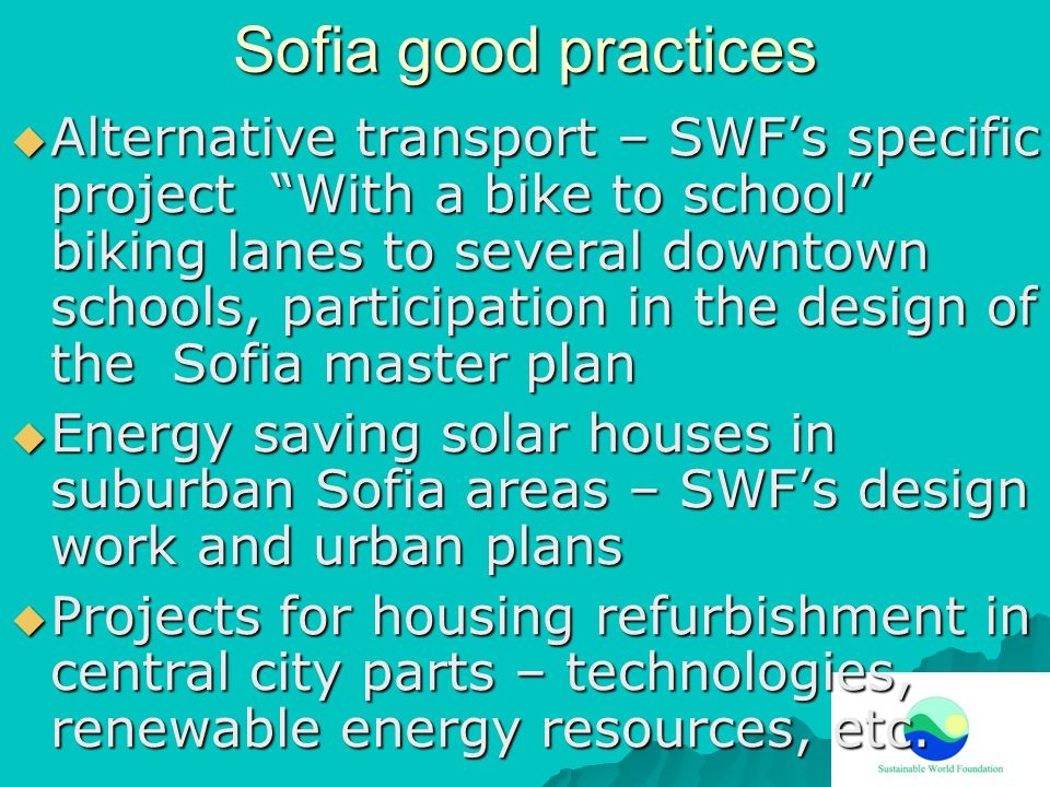 Sofia good practices