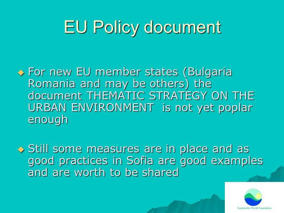 EU Policy document