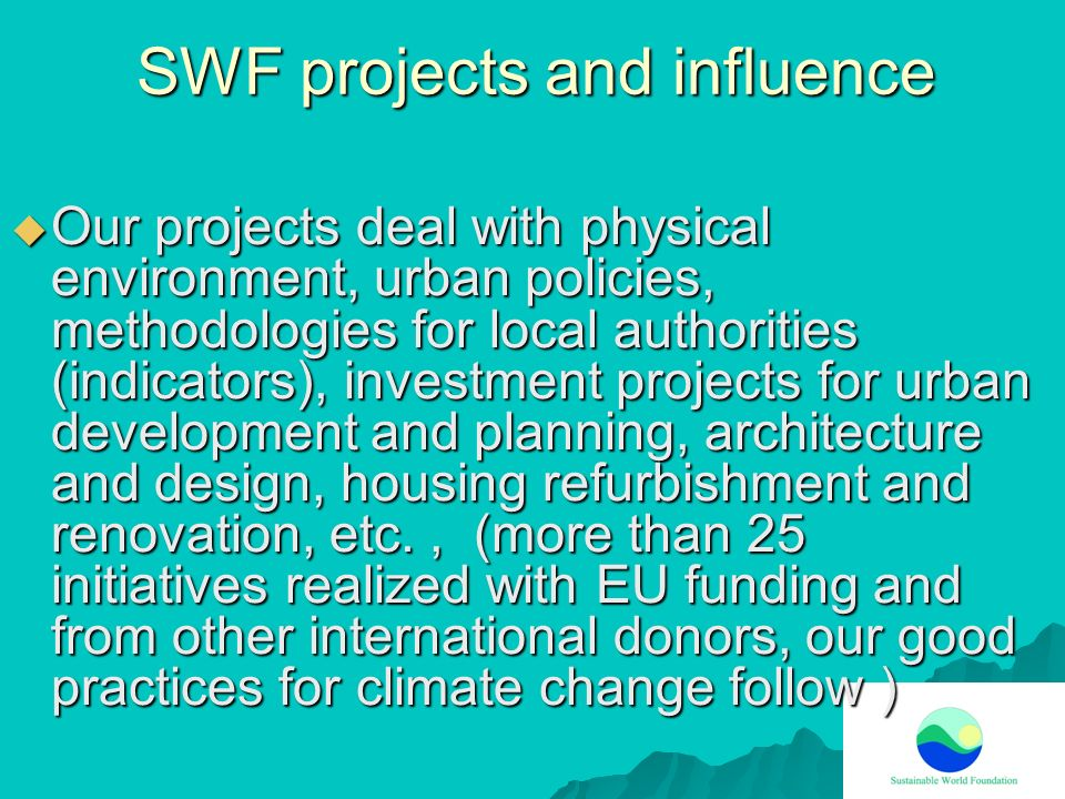 SWF projects and influence