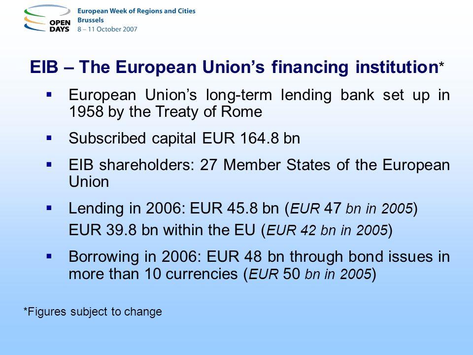 EIB – The European Union's financing institution*