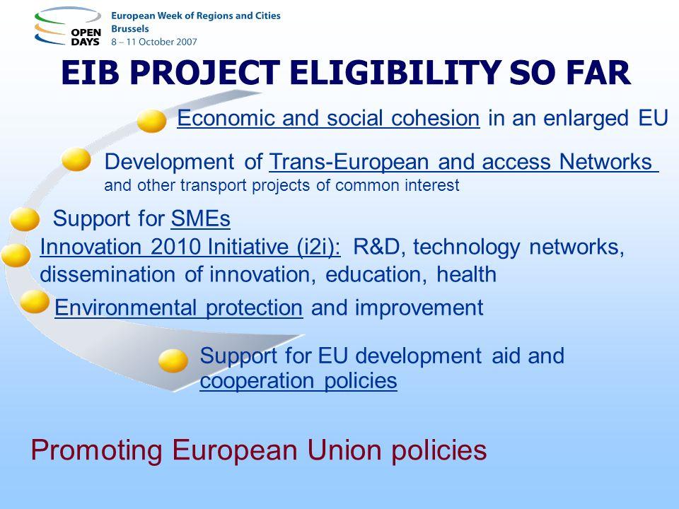 EIB PROJECT ELIGIBILITY SO FAR