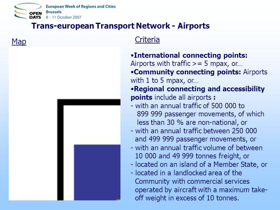 Trans-european Transport Network - Airports