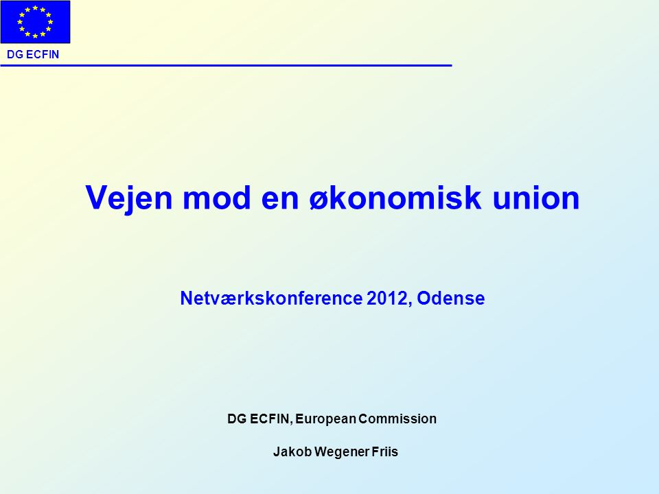 DG ECFIN, European Commission