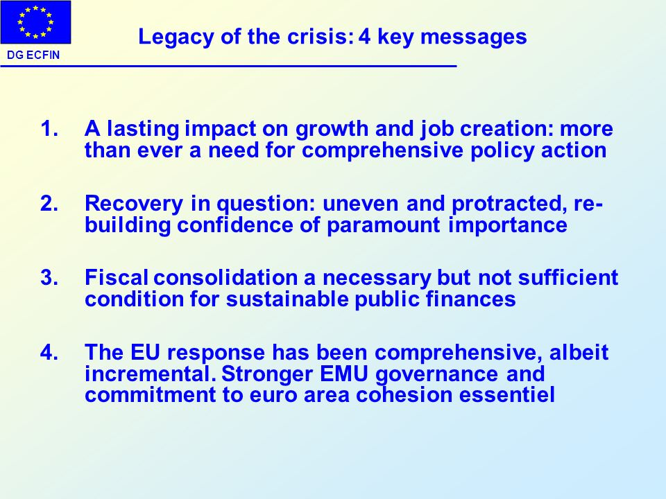 Legacy of the crisis: 4 key messages