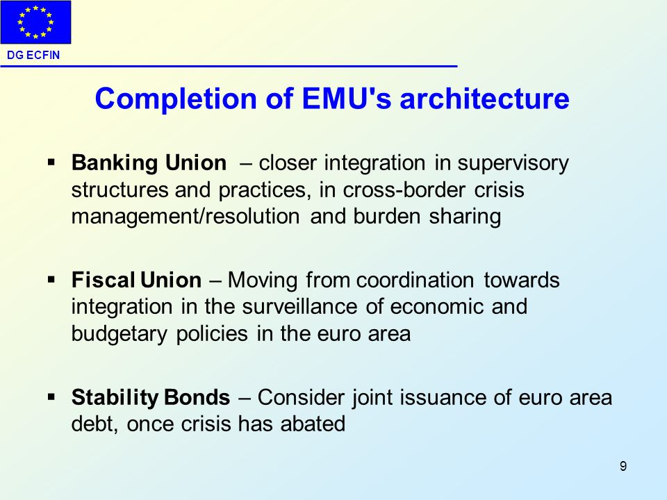 Completion of EMU s architecture