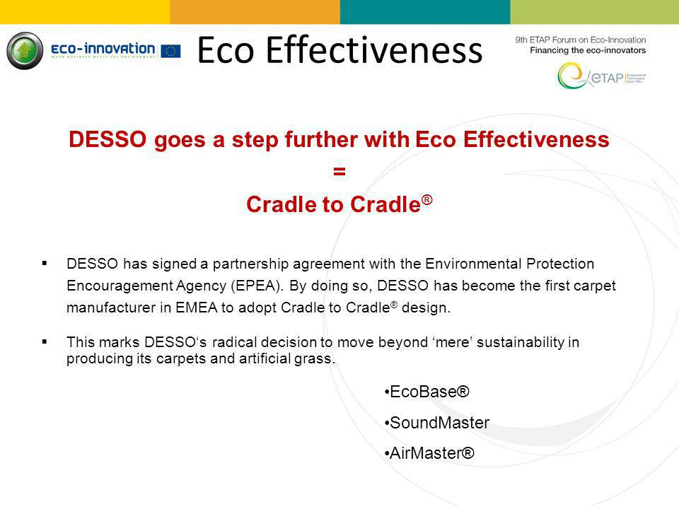 DESSO goes a step further with Eco Effectiveness
