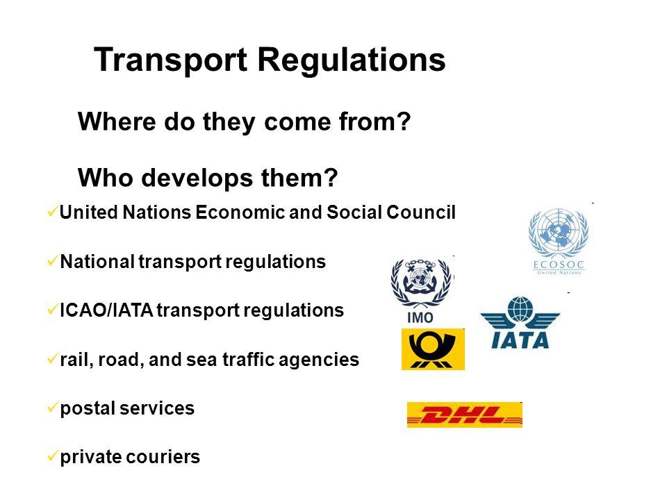 Transport Regulations