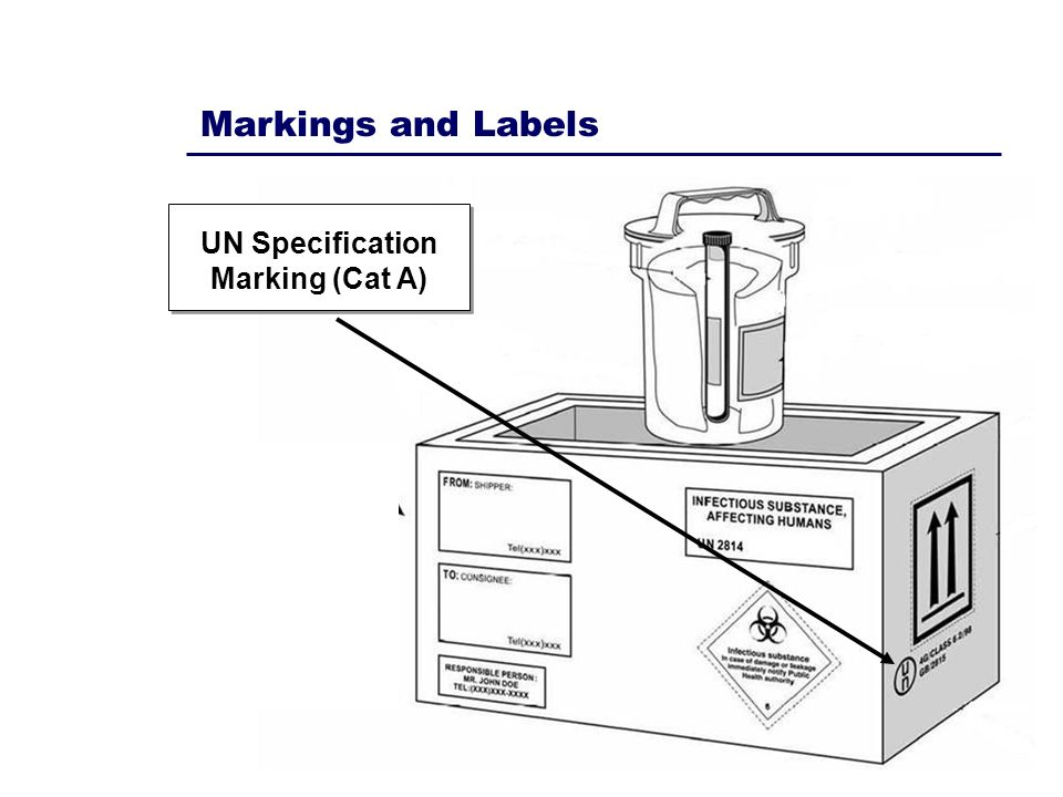 UN Specification Marking (Cat A)