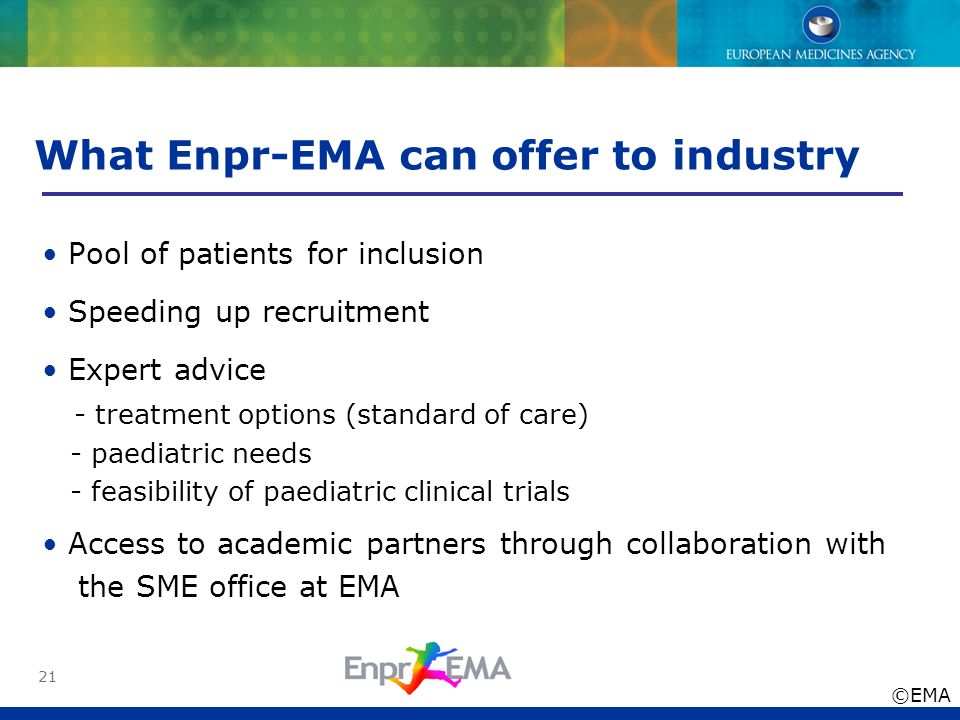 What Enpr-EMA can offer to industry