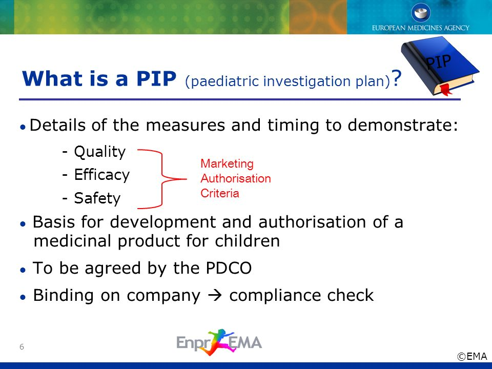 What is a PIP (paediatric investigation plan)