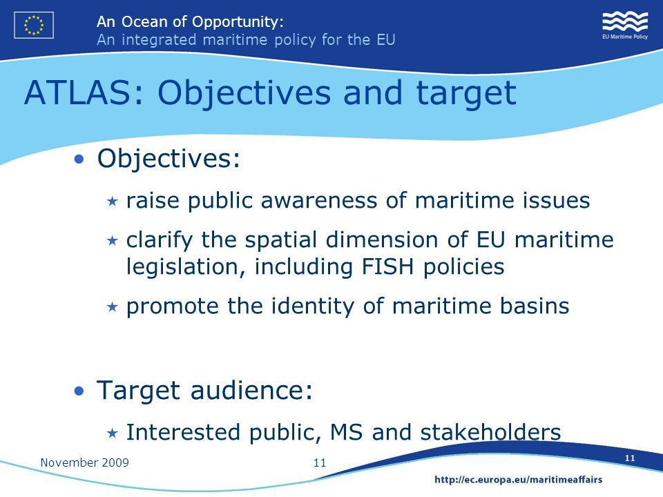 ATLAS: Objectives and target