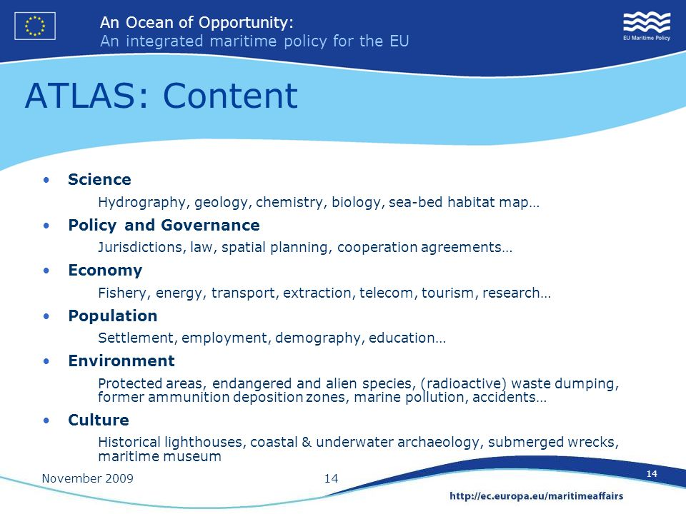 ATLAS: Content Science Policy and Governance Economy Population