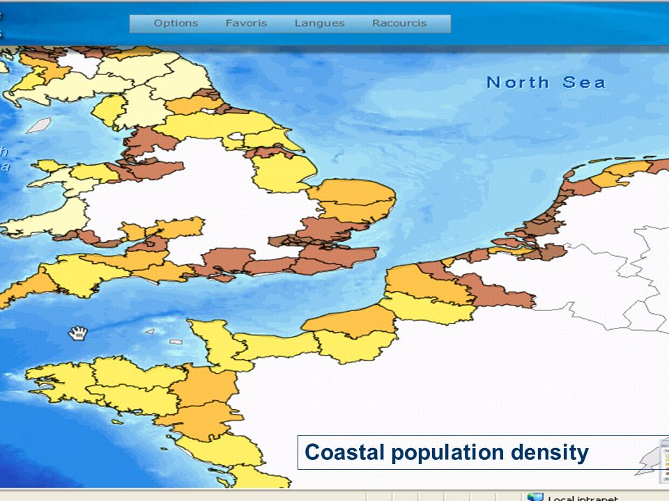 Coastal population density