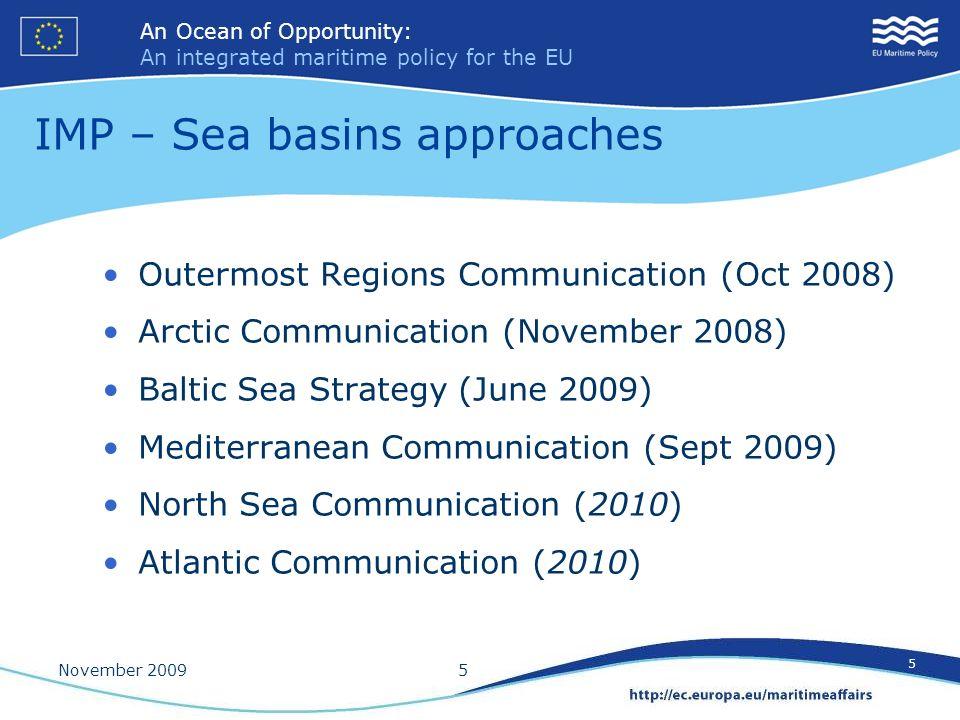 IMP – Sea basins approaches