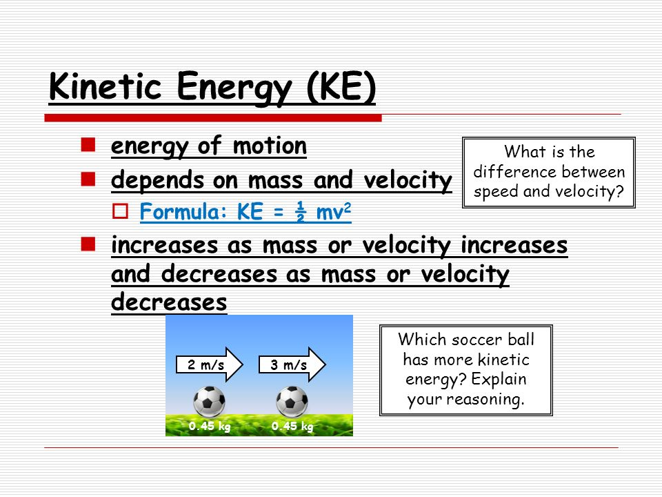 relationship of kinetic energy and velocity