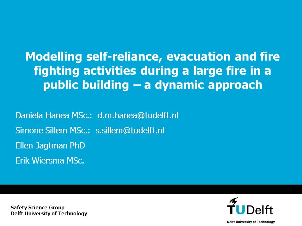 Modelling self-reliance, evacuation and fire fighting activities during a large fire in a public building – a dynamic approach