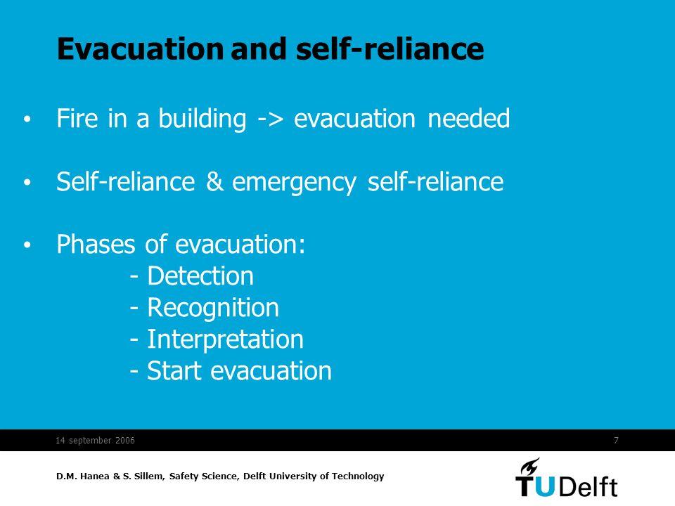 Evacuation and self-reliance
