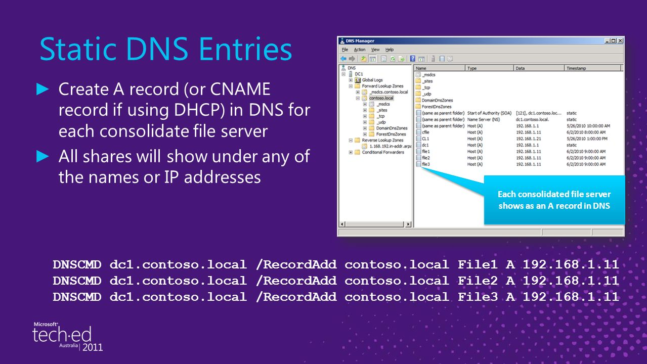 how to create ns record in dns windows 2008