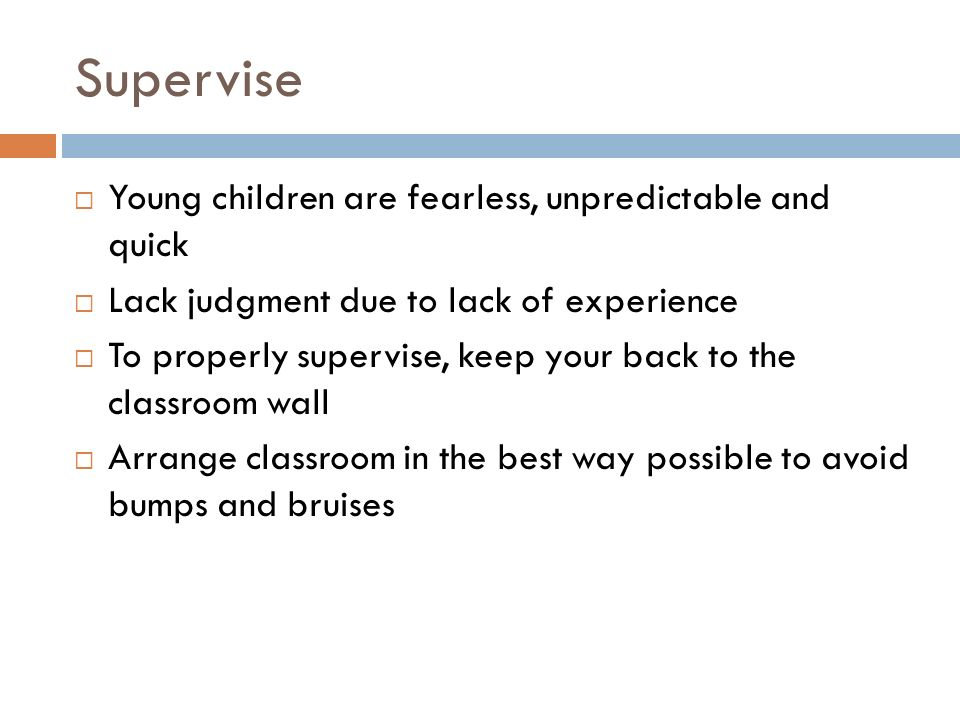supervise children and young people on It is not easy to identify those who are likely to abuse children, young people or  adults  event leaders or those supervising activities should introduce the idea of .