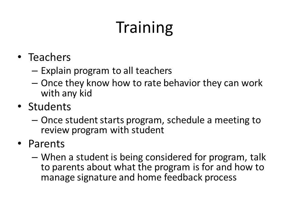 how to create a training program schedule teachers