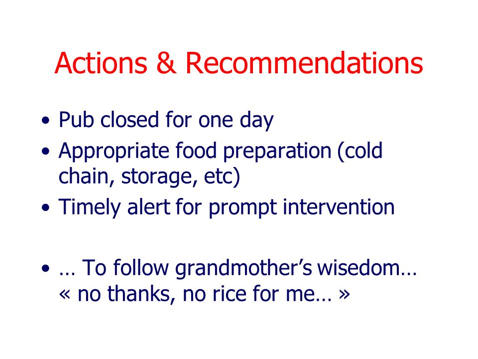 Actions & Recommendations