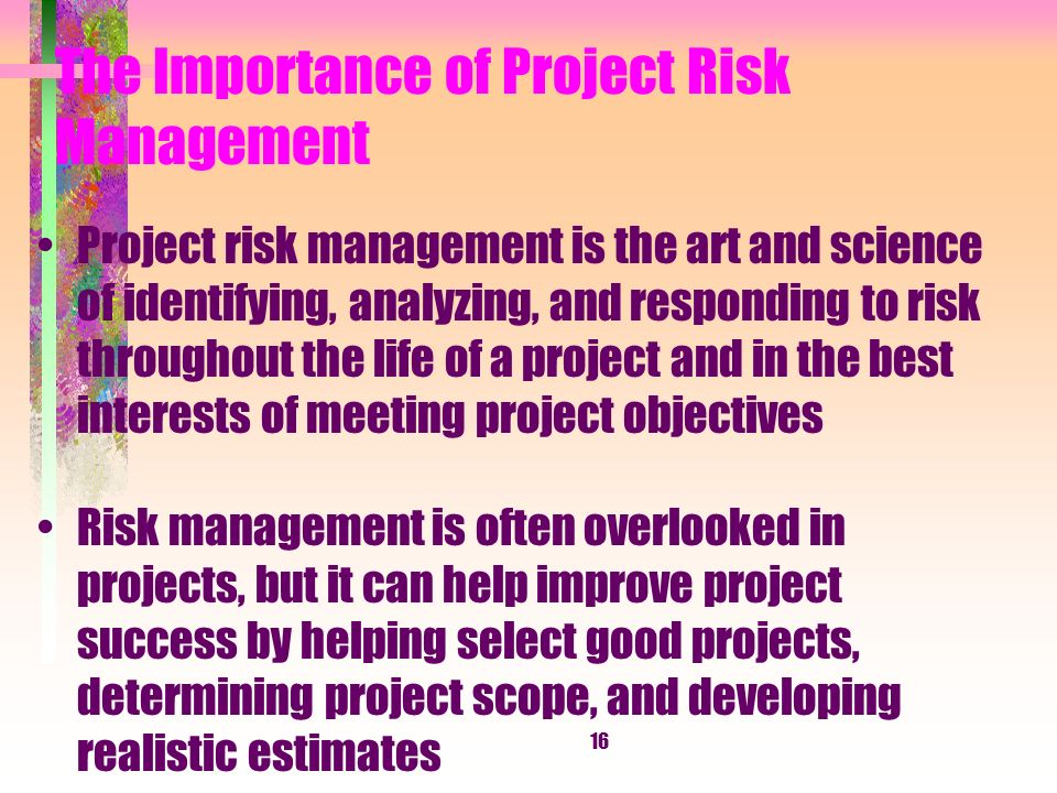 the importance of determining project estimates in construction management Project plan project scope estimates risks schedule  miscommunication among project staff project management failing to recognize schedule  construction.