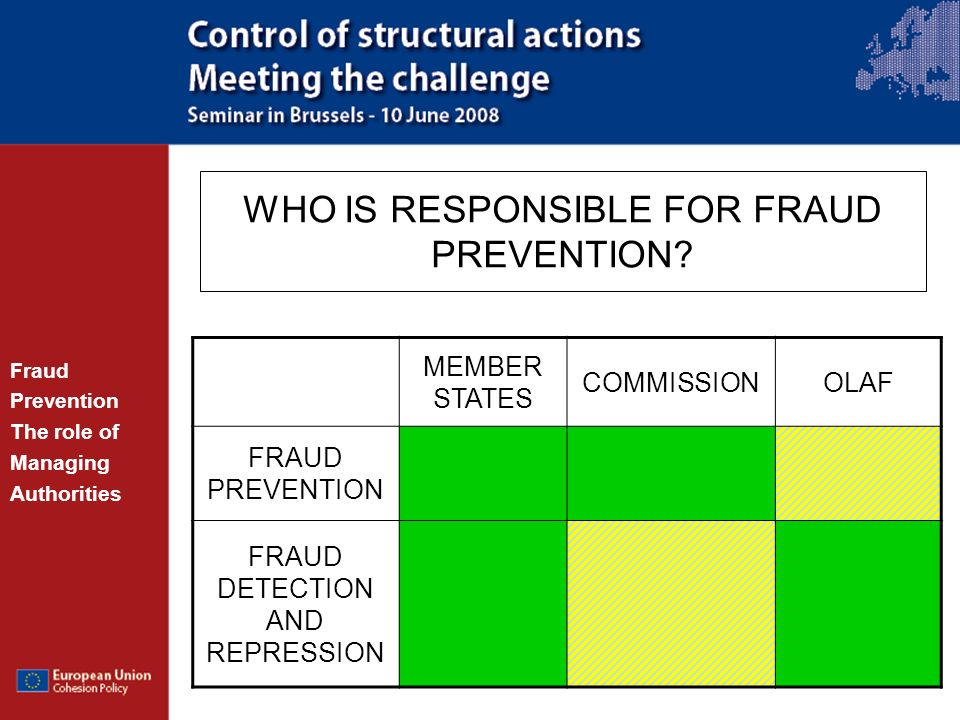 WHO IS RESPONSIBLE FOR FRAUD PREVENTION