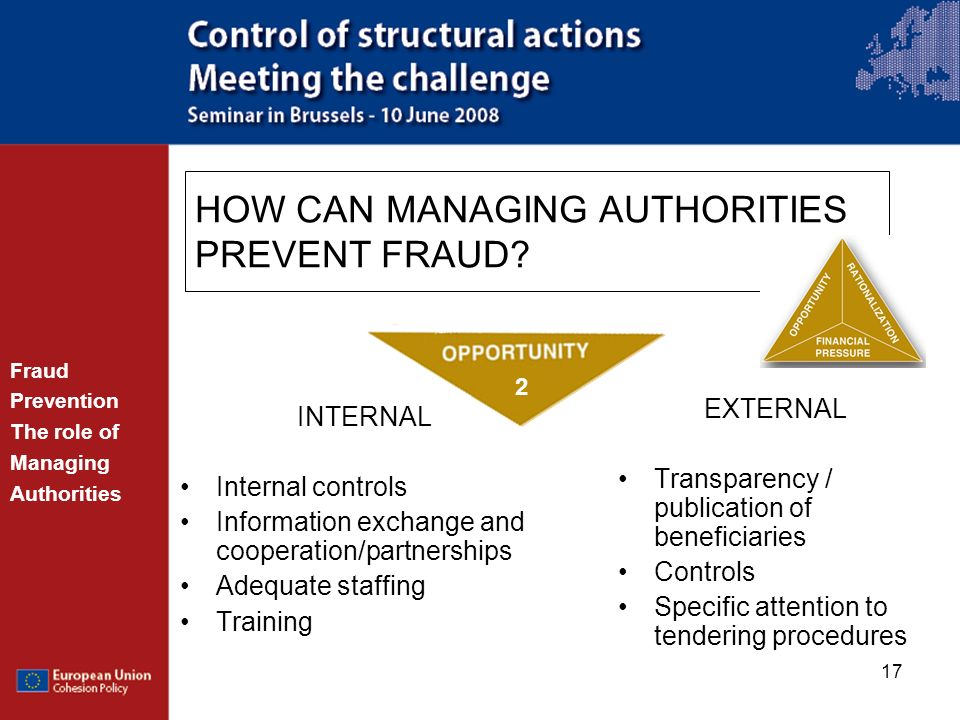 HOW CAN MANAGING AUTHORITIES PREVENT FRAUD