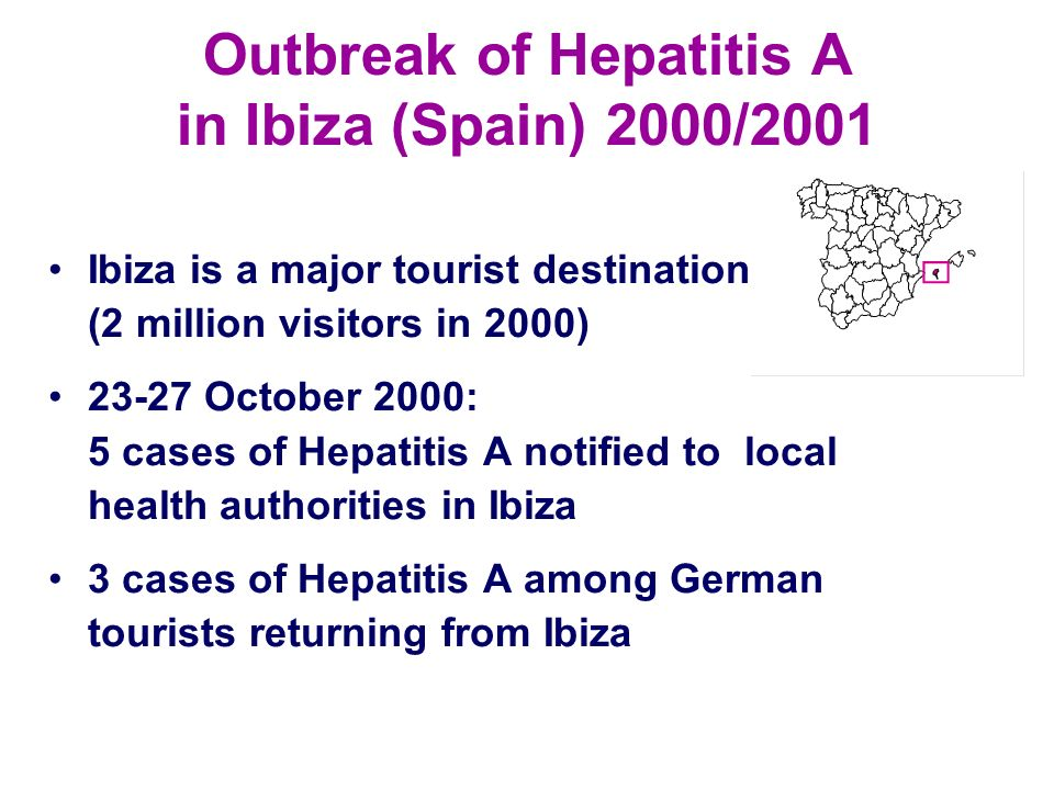 Outbreak of Hepatitis A in Ibiza (Spain) 2000/2001