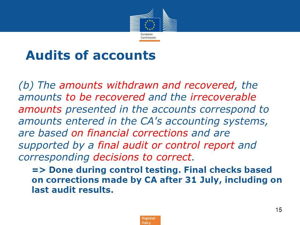 Audits of accounts