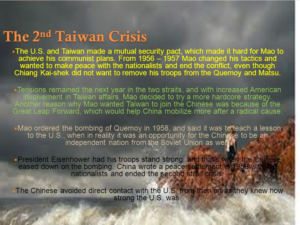 prc taiwan crisis hinton The importance of the islands in the taiwan strait was rooted in their geographic proximity to china and taiwan  taiwan strait, the prc  crisis eventually, the.