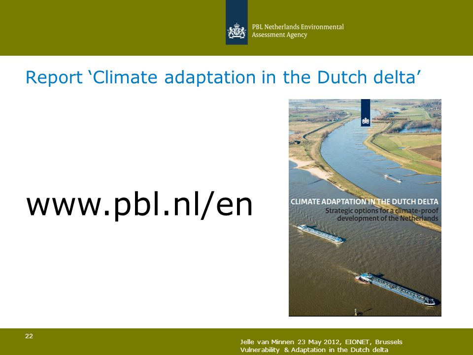 Report 'Climate adaptation in the Dutch delta'