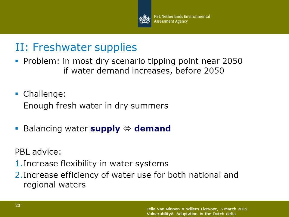 II: Freshwater supplies