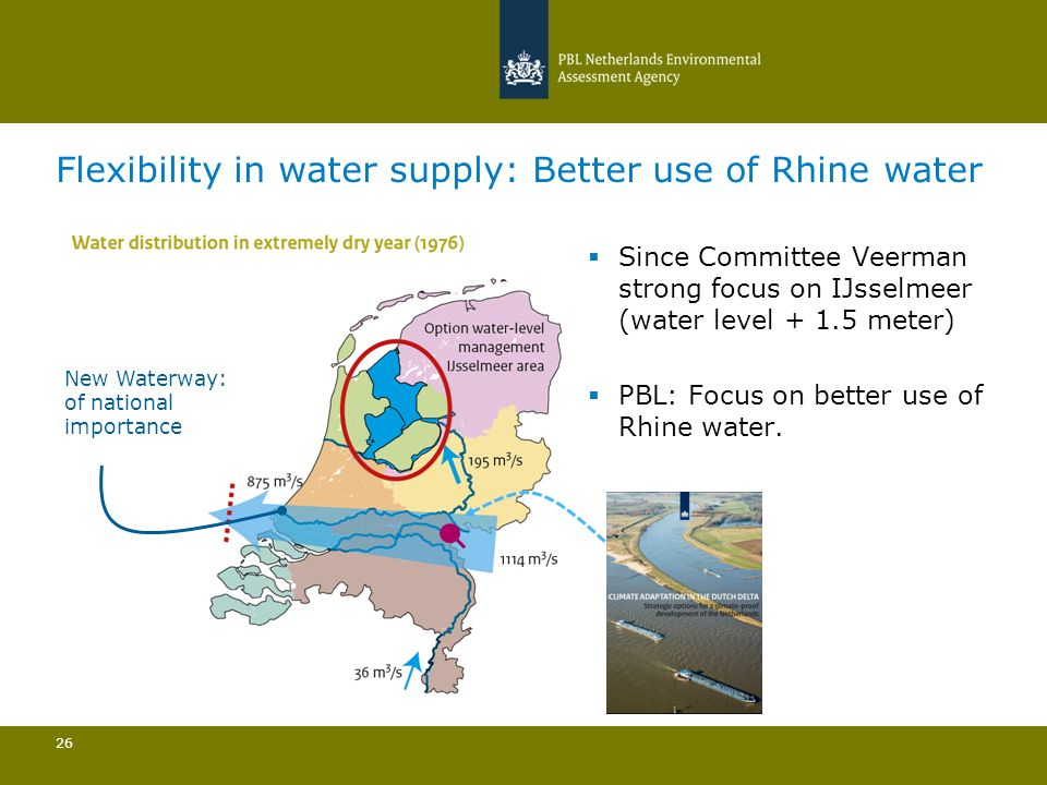 Flexibility in water supply: Better use of Rhine water