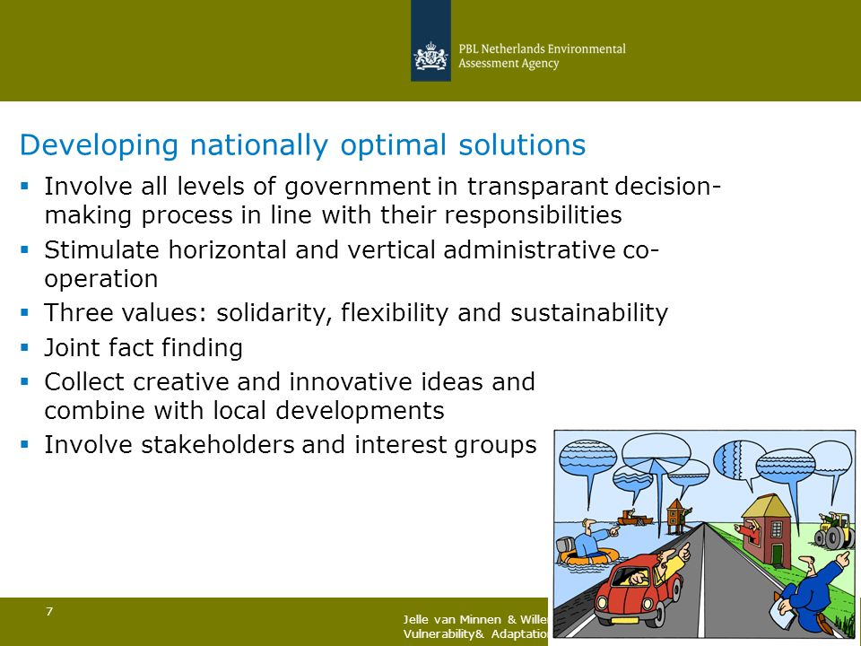 Developing nationally optimal solutions