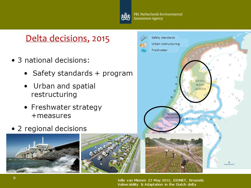 Delta decisions, national decisions: Safety standards + program