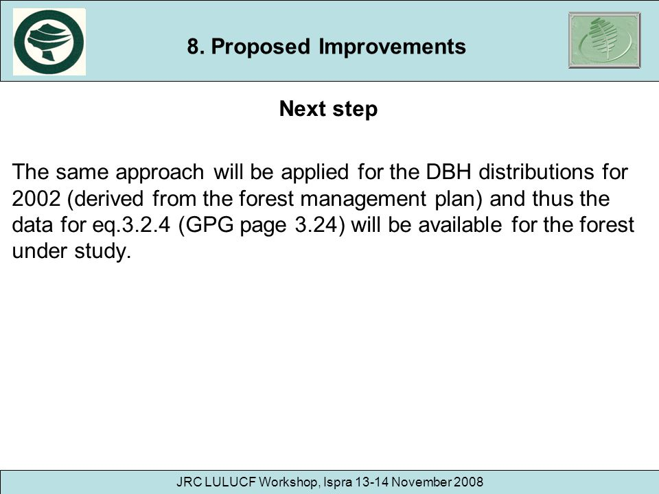 8. Proposed Improvements