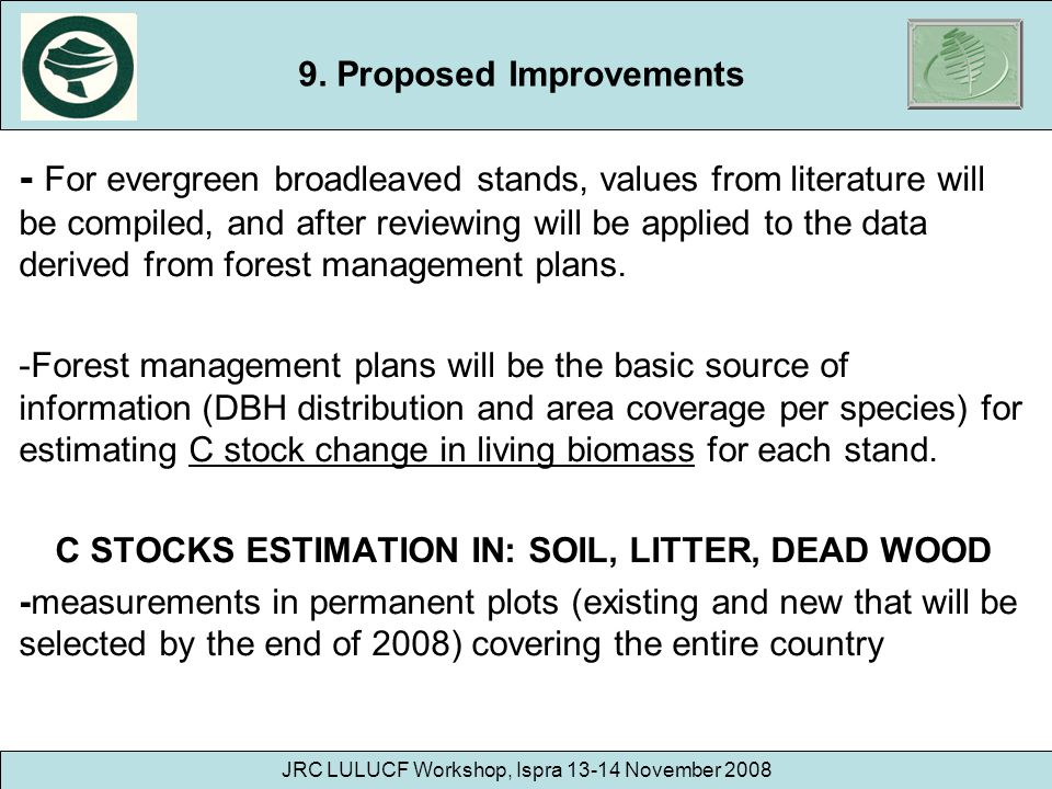 9. Proposed Improvements