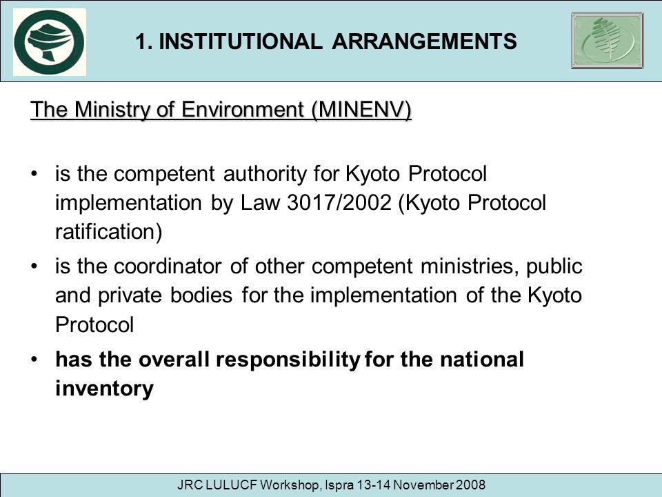 1. INSTITUTIONAL ARRANGEMENTS