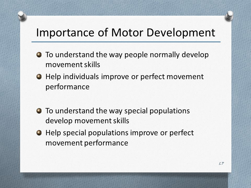 Introduction to motor development ppt video online download for Development of motor skills